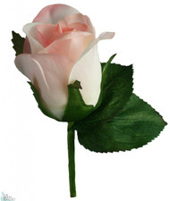 Pink Silk Rose Boutonniere - Wedding Boutonniere