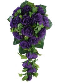 Purple Silk Bridal Wedding Bouquets