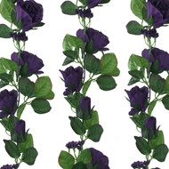 Purple Silk Rose Garland - Wedding Decoration