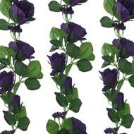 Purple Silk Rose Garland - Wedding Decoration