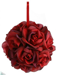 Garden Rose Kissing Ball - Red - 6 inch Pomander
