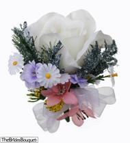 Wildflower Silk Rose Corsage