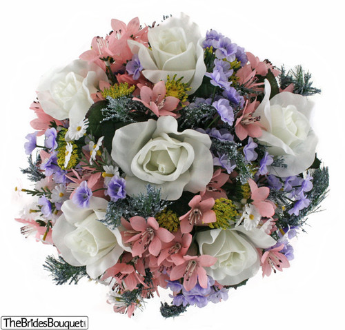 Wildflower Nosegay - Silk Bridal Wedding Bouquet
