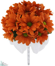 Daisy Bouquet Orange - Silk Daisy Bouquet Medium - Bridal Wedding Bouquet