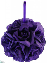 Garden Rose Kissing Ball - Purple - 6 inch Pomander