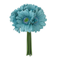 Aqua blue Daisy Bouquet small- 9 stem bouquet