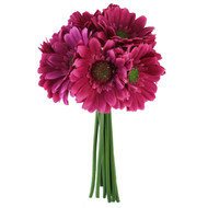 Hot Pink Daisy Bouquet - Bridal Wedding Bouquet- 9 stems