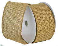 Wired Edge Premium Burlap Ribbon ~ Natural ~ 10 yards ~ 2.5 inches wide