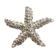 3 pcs STARFISH Flatback Style Rhinestone Embellishment Beach Bridal Wedding Accessories Invitations Crystal Bouquet Hair Clip Jewelry Button Brooch