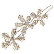 FLOWER Hair Clip Rhinestone Garden Bridal Wedding Accessories