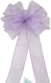 Pew Bows Lavender Sheer - Set of 4 Lavender Bows - Reception Decoration