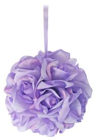 Garden Rose Kissing Ball - Lavender - 6 inch Pomander