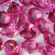 Diamond Confetti Table Decoration - 30 Carat Extra Large - 150 Pieces - Hot Pink