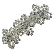 Grand Baroque Floral Hair clip Rhinestone Vintage Bridal Wedding Accessories