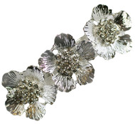 Poppy Flower Hair Clip Rhinestone Vintage Bridal Wedding Accessories Poppies