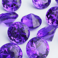 Diamond Confetti Table Decoration - 60 Carat Extra Large - 40 Pieces - Purple Diamond