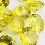 Diamond Confetti Table Decoration - 60 Carat Extra Large - 40 Pieces - Yellow Diamond
