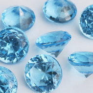 Diamond Confetti Table Decoration - 60 Carat Extra Large - 40 Pieces - Light Blue Diamond