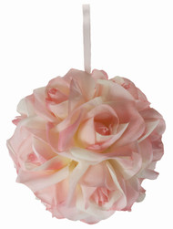 Garden Rose Kissing Ball - Pink - 6 inch Pomander