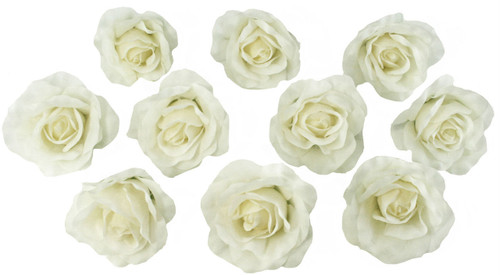 10 ivory rose heads silk flower weddingreception table decorations 10 ivory rose heads silk flower weddingreception table decorations bulk silk flowers mightylinksfo