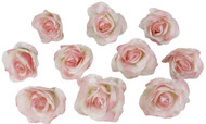 10 Pink Rose Heads Silk Flower Wedding/Reception Table Decorations Bulk Silk Flowers