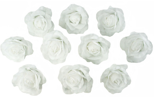 10 white rose heads silk flower weddingreception table decorations 10 white rose heads silk flower weddingreception table decorations bulk silk flowers mightylinksfo