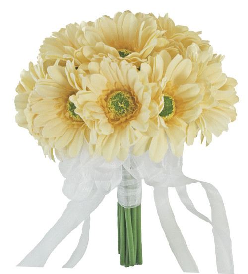 Yellow daisy bouquet large silk bridal wedding bouquet yellow gerbera daisy bouquet silk wedding flowers mightylinksfo