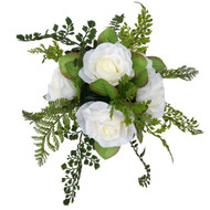 Gorgeous Fern & Rose Bouquet - 6 rose shown (larger sizes available with 12 or 18 roses)