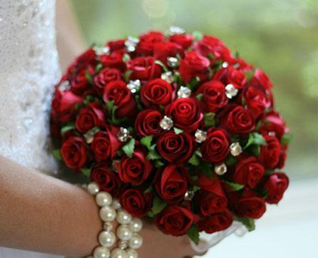 Silk Wedding Bouquets Jewels