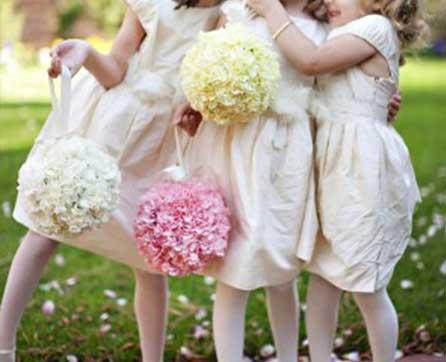 Silk Wedding Kissing Balls/Pomanders