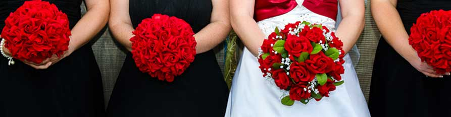 Silk Wedding Bouquets & Flowers