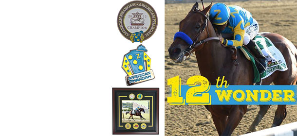 american pharoah triple crown pins