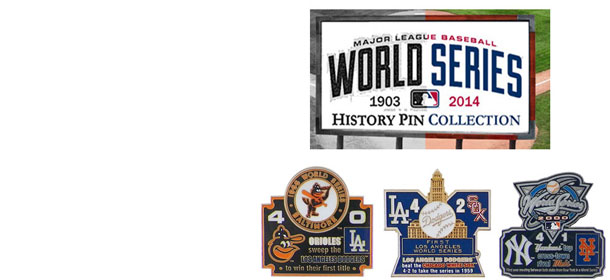 world series history commemorative pins