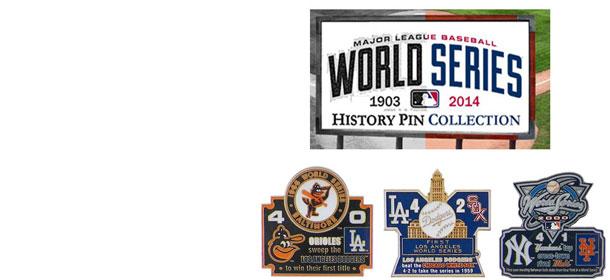 world series history commemorative pins