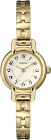 Carriage Women's C3C597 Gold-Tone Petite Round Case Gold-Tone Stainless Steel Expansion Band Watch