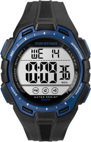 Timex Digital Full Marathon Black and Blue Chrono Watch
