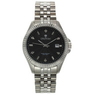 Croton Mens Stainless steel Silvertone Diamond Marker Watch