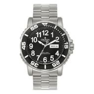 Croton Mens Stainless Steel Silvertone Luminous Hands Watch