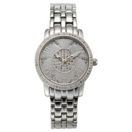 Croton Womens Stainless steel Silvertone Diamond Case Watch