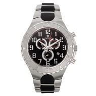 Croton Mens Stainless Steel Black Chronograph Watch