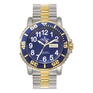 Croton Mens Stainless Steel Two Tone Luminous Hands Watch