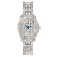 Croton Womens Stainless Steel Silvertone Austrian Crystal Watch