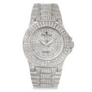 Croton Womens Stainless steel Silvertone Full CrystalWatch