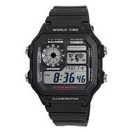 Casio Men's World Time Multifunction Watch AE1200WH-1AV Black