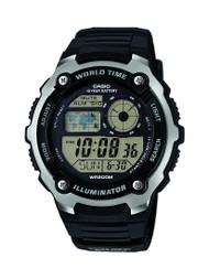 Casio Men's Multifunction Watch AE2100W-1AVCF Black Silver