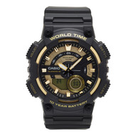 Casio Men's Analog Digital Dive Style Watch AEQ110BW-9AVCF Black Gold