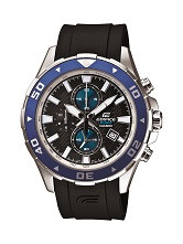 Casio Men's Edifice Analog Display Quartz Watch EFM501-1A2 Black Blue