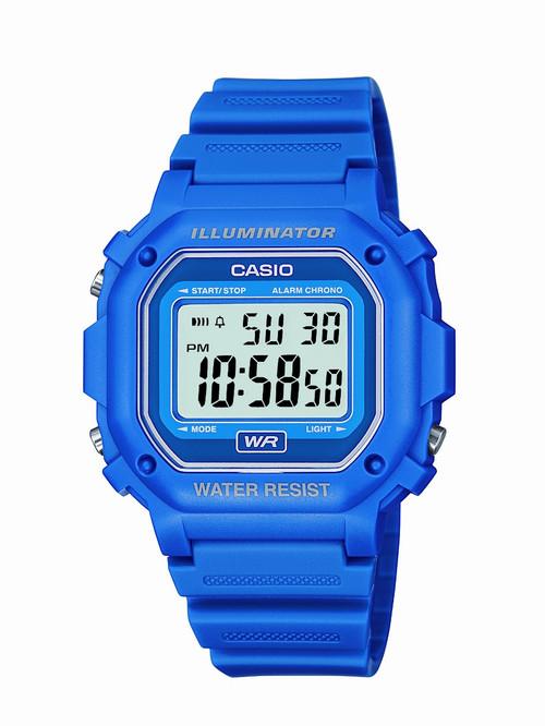 casio classic digital f108wh 2acf blue