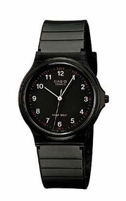 Casio Men's 3-hand Analog Water Resistant Watch MQ24-1B Black