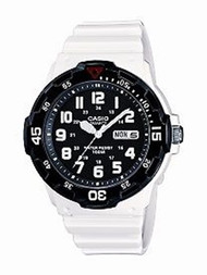 Casio Men's  White Resin Dive Watch MRW200HC-7BVCF Black White